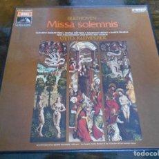Discos de vinilo: BEETHOVEN. MISSA SOLEMNIS. OTTO KLEMPERER. CAJA CON 2 LP'S. 530 GRAMOS.. Lote 95594015