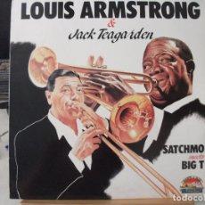 Discos de vinilo: LP DE LOUIS ARMSTRONG Y JACK TEAGARDEN, SATCHMO MEETS BIG T. Lote 95599303