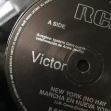 Discos de vinilo: MECANO SINGLE PROMOCIONAL AUSTRALIA NEW YORK (NO HAY MARCHA EN NUEVA YORK), CARA B LAIKA. Lote 95604507