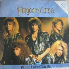 Discos de vinilo: KINGDOM COME: WHAT LOVE CAN BE (FULL LENGTH VERSION) / HELPING HAND / THE SHUFFLE. Lote 95609247