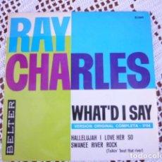 Discos de vinilo: 4 SINGLES DE RAY CHARLES. Lote 95612639