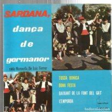Discos de vinilo: EP SARDANES : COBLA MARAVELLA ; SARDANA, DANÇA DE GERMANOR ( TOSSA BONICA + 3). Lote 95614363