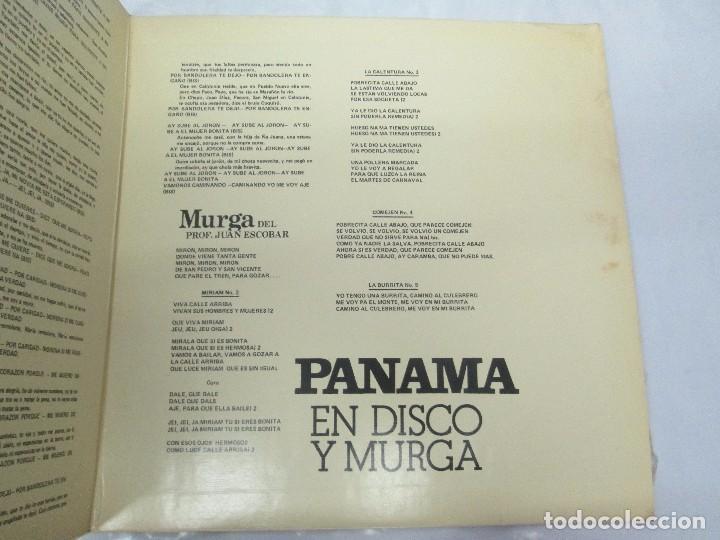 Discos de vinilo: PANAMA EN DISCO Y MURGA. TOBY MUÑOZ. LP VINILO. VER FOTOGRAFIAS ADJUNTAS - Foto 4 - 95623799