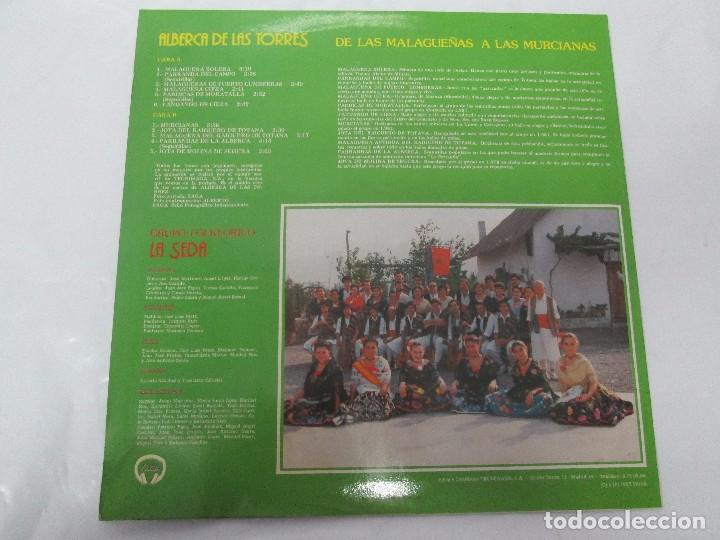Discos de vinilo: GRUPO FOLKLORICO. LA SEDA. DE LAS MALAGUEÑAS A LAS MURCIANAS. LP VINILO. TECNOSAGA 1983. - Foto 8 - 95626483