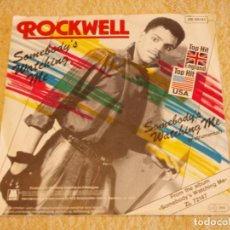 Discos de vinilo: ROCKWELL TOP HIT USA & ENGLAND ( SOMEBODY'S WATCHING ME 2 VERSIONES ) 1983-GERMANY SINGLE45 . Lote 95626927