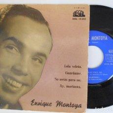 Discos de vinilo: ENRIQUE MONTOYA-EP LOLA VELETA +3. Lote 95629235