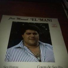 Discos de vinilo: JOSÉ MANUEL EL MANI. COSAS DE SEVILLA. B15V. Lote 95630039