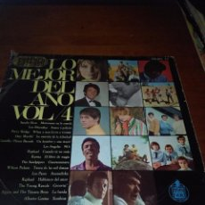 Discos de vinilo: LO MEJOR DEL AÑO.VOL. 4. SOLAMENTE LA CARATULA. SIN CARATULA. B15V. Lote 95630515