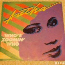 Discos de vinilo: ARETHA FRANKLIN ( WHO'S ZOOMIN' WHO - SWEET BITLER LOVE ) 1985-GERMANY SINGLE45 ARISTA. Lote 95630619