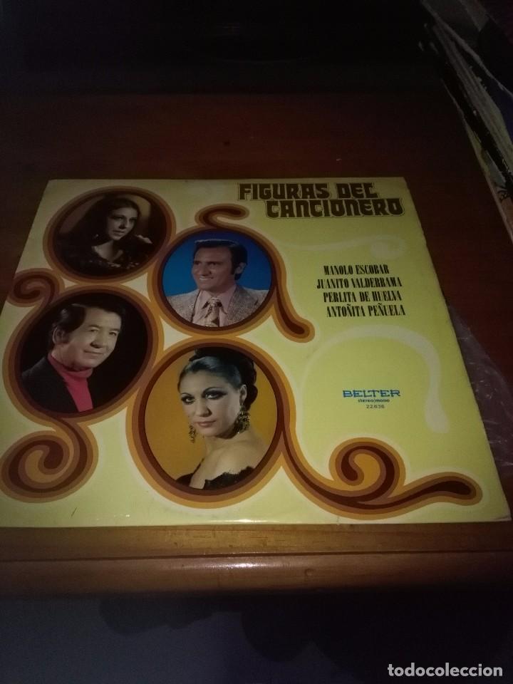 FIGURAS DEL CANCIONERO. MANOLO ESCOBAR. JUANITO VALDERRAMA. PERLITA DE HUELVA. .. B15V (Música - Discos - LP Vinilo - Otros estilos)