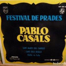 Discos de vinilo: PABLO CASALS FESTIVAL A PRADES -CANT DELS OCELLS-Y 2MAS. Lote 95646539