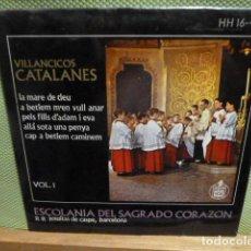Discos de vinilo: VILLANCICOS CATALANES -LA MARE DE DEU-Y 3 MAS ESCOLANIA DEL SAGRADO CORAZON P.P.JESUITAS DE CASPE . Lote 95647819