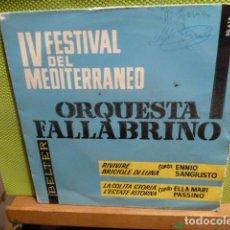 Discos de vinilo: IV FESTIVAL DEL MEDITERRANEO ORQUESTA FALLABRINA -ENNIO SANGIUSTO -FIRMA. Lote 95649971