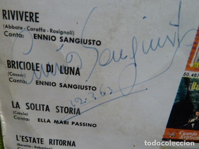 Discos de vinilo: IV FESTIVAL DEL MEDITERRANEO ORQUESTA FALLABRINA -ENNIO SANGIUSTO -FIRMA - Foto 2 - 95649971