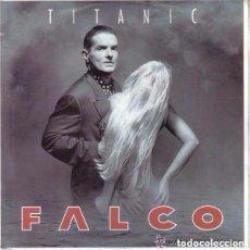 Discos de vinilo: FALCO, TITANIC, SINGLE PROMO GERMANY 1992. Lote 95655239