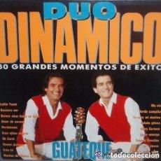 Discos de vinilo: DUO DINAMICO, GUATEQUE: 30 GRANDES MOMENTOS DE EXITO LP CBS 1990 SPAIN. Lote 95657783