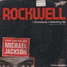 Discos de vinilo: ROCKWELL / SOMEBODY'S WATCHING ME / VERSION INSTRUMENTAL / SINGLE DE 1984 RF 2970. Lote 95664655