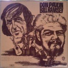 Discos de vinilo: DON PAULIN & BILL RAMSEY. HARD TRAVELLING. WB-WEA, GERMANY 1975 LP. Lote 95666079