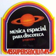 Discos de vinilo: SATURNE EA 1 / ROCK ODYSSEY - MAGIC FLY / TRIBUTE TO ELVIS (HOMENAJE A ELVIS) 12' MOVIEPLAY 1978. Lote 95669179