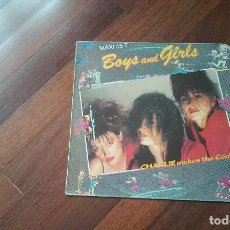 Discos de vinilo: CHARLIE MAKES THE COOK-BOYS AND GIRLS.MAXI. Lote 95669451