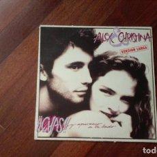 Discos de vinil: ALEX Y CHRISTINA-¡¡CHAS!! Y APAREZCO A TU LADO+ BETTY TIENE UN SECRETO.MAXI. Lote 95670843