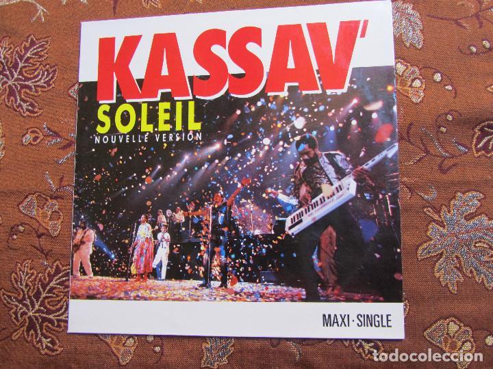 KASSAV -MAXI-SINGLE DE VINILO- TITULO SOLEIL NOUVELLE VERSION- 3 TEMAS- ORIGINAL 88- NUEVO (Música - Discos de Vinilo - Maxi Singles - Country y Folk)