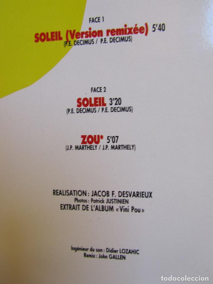 Discos de vinilo: KASSAV -MAXI-SINGLE DE VINILO- TITULO SOLEIL NOUVELLE VERSION- 3 TEMAS- ORIGINAL 88- NUEVO - Foto 3 - 95688483