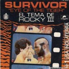 Discos de vinilo: SURVIVOR, EYE OF THE TIGER, SINGLE SPAIN 1982. Lote 95702583