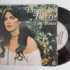 Discos de vinilo: SINGLE DE EMMYLOU HARRIS-THE BOXER. Lote 95710795