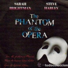 Discos de vinilo: THE PHANTOM OF THE OPERA , SARAH BRITHTMAN & STEVE HARLEY -SINGLE POLYDOR 1986. Lote 95720899
