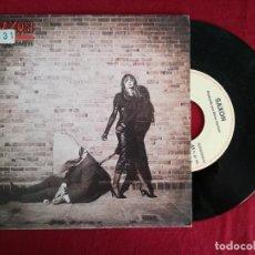 Discos de vinilo: SAXON, BACK ON THE STREETS (EMI) SINGLE PROMOCIONAL ESPAÑA. Lote 95723719