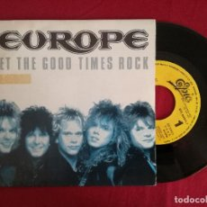 Discos de vinilo: EUROPE, LET THE GOOD TIMES ROCK (CBS) SINGLE PROMOCIONAL ESPAÑA. Lote 95724175