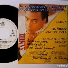 Discos de vinilo: 1º CONCURSO DE JOVENES PROMESAS DE LA CANCION SAMUEL (QUEDATE COMO NUNCA) ROMERITO (ESTA COBARDIA). Lote 129696895
