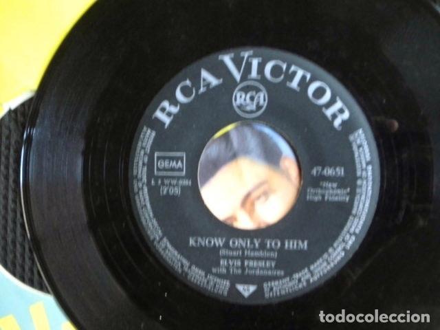 Discos de vinilo: ELVIS PRESLEY SINGLE FUNDA FOTOS ALEMANIA AÑOS 50 - Foto 4 - 95730832