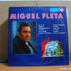 Discos de vinilo: MIGUEL FLETA - MIGUEL FLETA - RCA 3L10157 - 1961. Lote 95731427