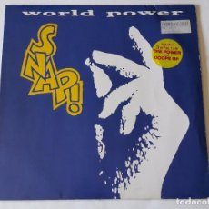 Discos de vinilo: SNAP! - WORLD POWER - 1990 - LP. Lote 95746831