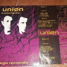 Discos de vinilo: LA UNION 3N CONCIERTO. TREN DE LARGO RECORRIDO. Lote 95749351