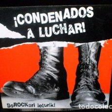 Discos de vinilo: LP VARIOUS CONDENADOS A LUCHAR SPAIN 1986 MCD DANBA BAP PUNK OI KBD ZER BIZIO. Lote 95754195