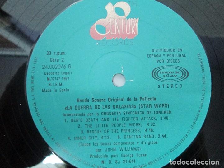 Discos de vinilo: BANDA SONORA ORIGINAL DE LA PELICULA LA GUERRA DE LAS GALAXIAS. ORQUESTA SINFONICA DE LONDRES. 1977 - Foto 6 - 95754267