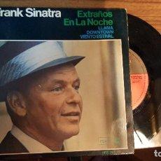 Discos de vinilo: FRANK SINATRA --- EXTRAÑOS EN LA NOCHE ---LLAMA --DOWNTOWN -- VIENTO ESTIVAL -- AÑO 1966. Lote 95755495