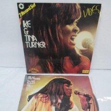 Discos de vinilo: 2 LP VINILO: IKE AND TINA TURNER. TOO HAT TO HOLD!. VIBES. MARFER 1972 Y 1977. VER FOTOGRAFIAS. Lote 95756307