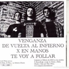 Discos de vinil: EP ACID MESS VENGANZA + 3 ASTURIAS SPAIN 2010 LIMITED NUMBERED PUNK. Lote 95758155