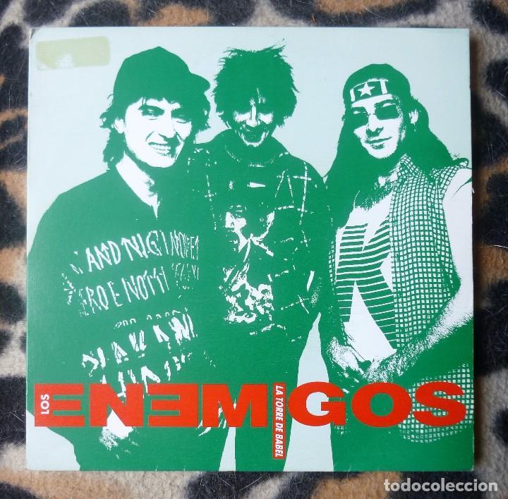 LOS ENEMIGOS- LA TORRE DE BABEL + YO EL REY - SINGLE- GRABACIONES ACCIDENTALES -1990 (Música - Discos - Singles Vinilo - Grupos Españoles de los 90 a la actualidad)