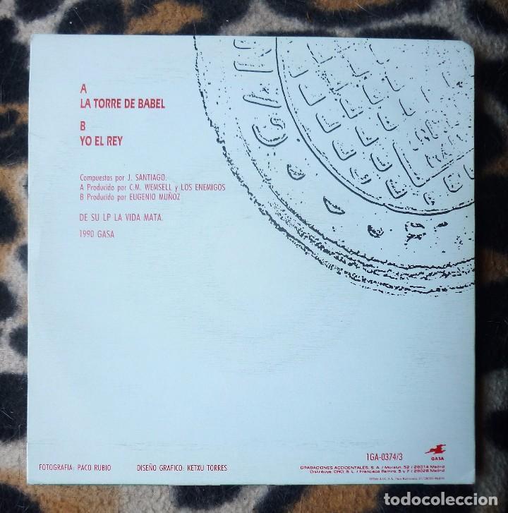 Discos de vinilo: LOS ENEMIGOS- La torre de Babel + Yo el rey - single- GRABACIONES ACCIDENTALES -1990 - Foto 2 - 236656685