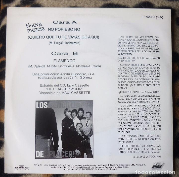 Discos de vinilo: LOS SENCILLOS- No, por eso no + Flamenco - single- ARIOLA -1991 - Foto 2 - 95759075