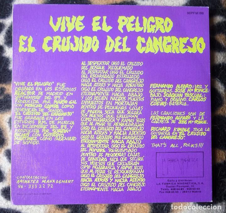 Discos de vinilo: SURFIN´ BICHOS- Vive el peligro + El crujido del cangrejo - single LA FÁBRICA MAGNÉTICA -1990- PROMO - Foto 2 - 95759907