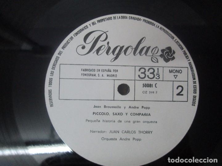 Discos de vinilo: PEDRO Y EL LOBO. SERGEI PROKOFIEFF. PICCOLO, SAXO Y COMPAÑIA. JEAN BROUSSOLLE Y ANDRE POPP. - Foto 6 - 95764791