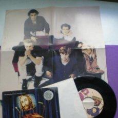Discos de vinilo: THE JEREMY DAYS - HISTORY (HEAVENLY FATHER) - SINGLE POLYDOR 1990 // CON POSTER. Lote 95765275