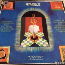 Discos de vinilo: MUSIC FOR THE MIRACLE(BRUCE SPRINGSTEEN,SADE,Y OTROS) EPIC 1986. Lote 95767191