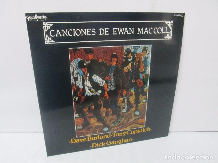 CANCIONES DE EWAN MACCOLL. DAVE BURLAND. TONY CAPSTICK. DICK GAUGHAN. LP VINILO. GUIMBARDA 1980. (Música - Discos - Singles Vinilo - Country y Folk)